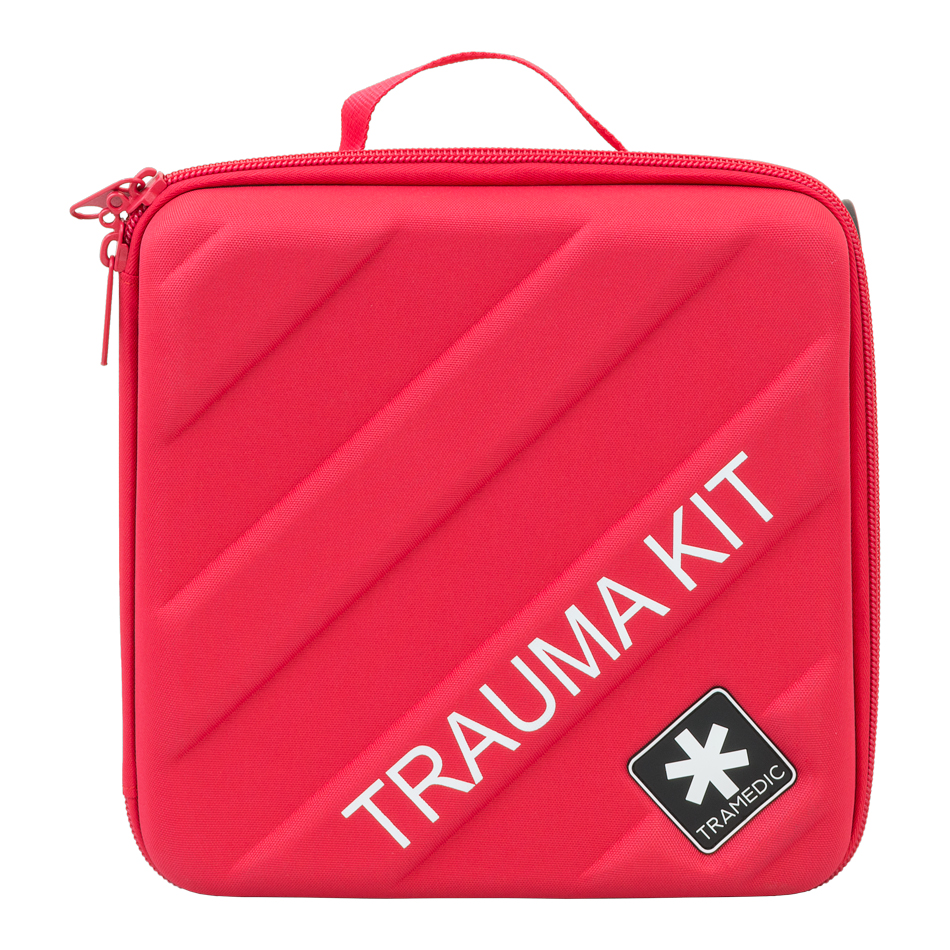 The Tramedicube™ is a trauma kit designed for use in homes, offices, vehicles, and areas with smaller numbers of occupants.