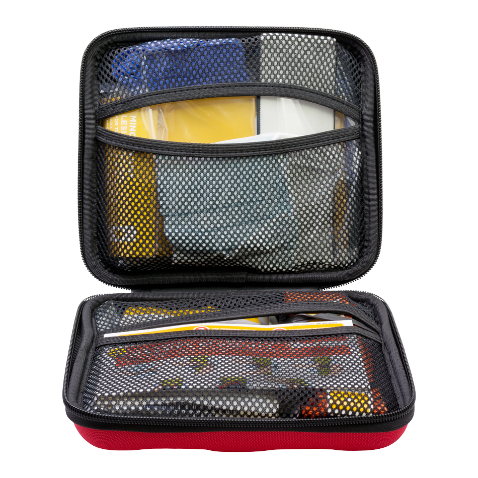 The Tramedic™ Individual Response Pack is an individual trauma kit packed in small, portable, hard case and contains the necessary items to treat serious injuries such as heavy bleeding or penetrating chest trauma.